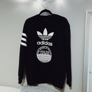 Adidas Black Crewneck Sweater
